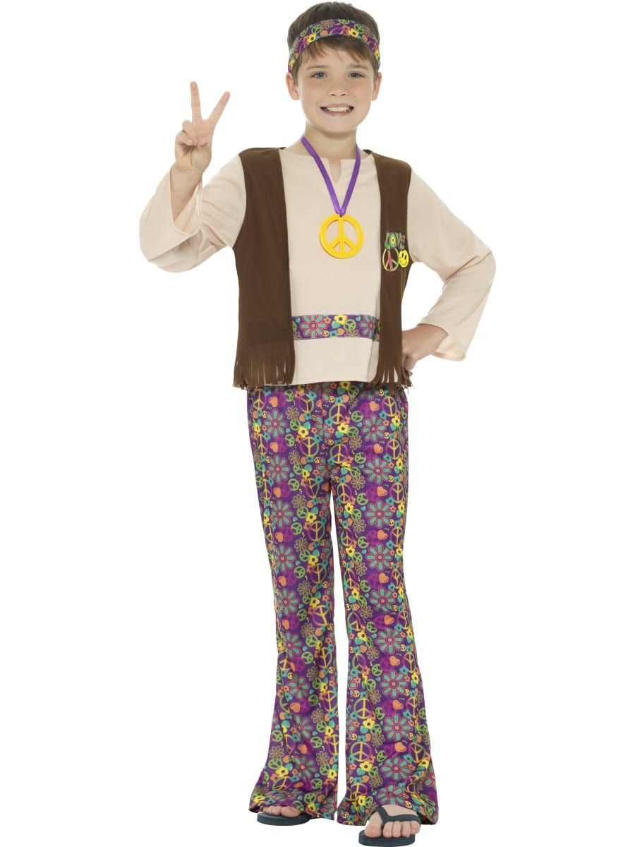 Hippie Boy Children's Fancy Dress Costume