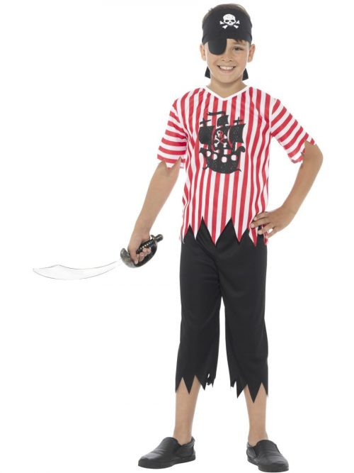Jolly Pirate Boy Children's Fancy Dress Costume