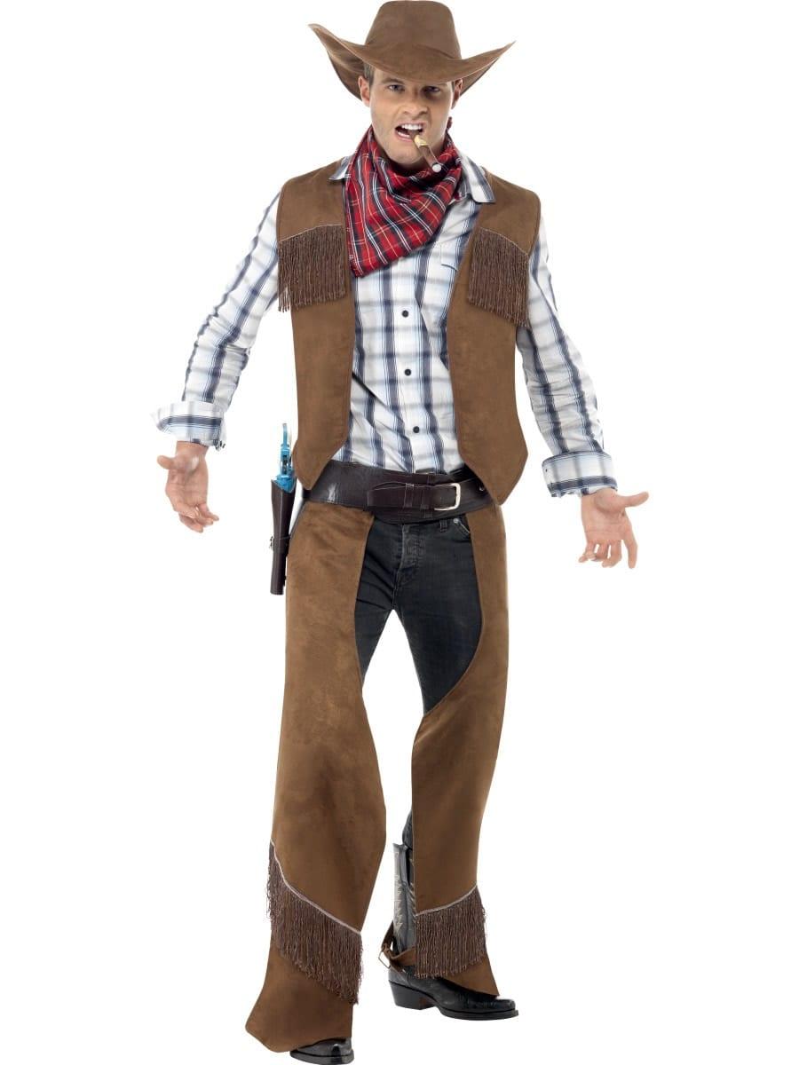 Fringed Cowboy Men's Fancy Dress Costume
