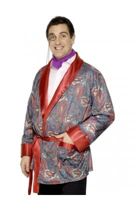Smoking Jacket Mens Fancy Dress Costume