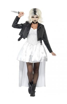 Chucky Bride of Chucky Ladies Halloween Fancy Dress Costume