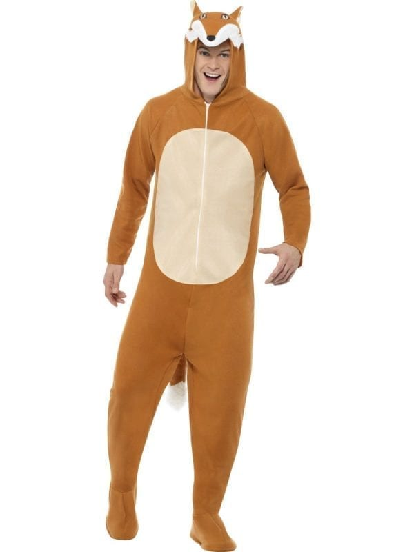 Fox (Onesie) Unisex Adult Fancy Dress Costume
