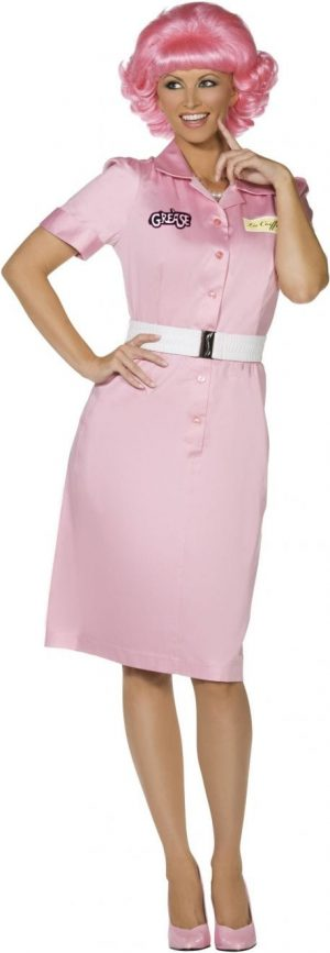 Grease Frenchy Ladies Fancy Dress Costume