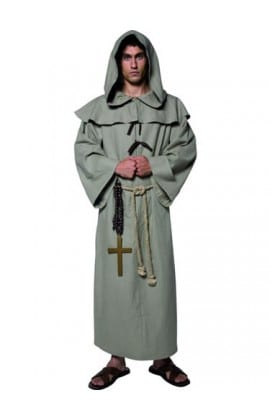 Tales of Old England Friar Tuck Mens Fancy Dress Costume