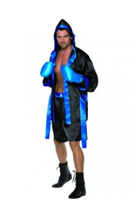 Fever Collection Down for the Count (Boxer) Mens Fancy Dress Costume