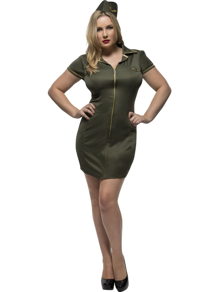 Fever Army Curves Ladies Fancy Dress Costume