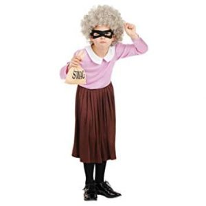 Burglar Granny Children's Fancy Dress Costume-0