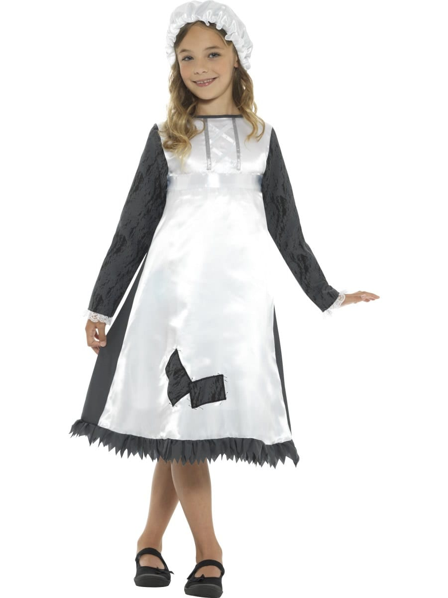 Victorian Maid Children's Fancy Dress Costume