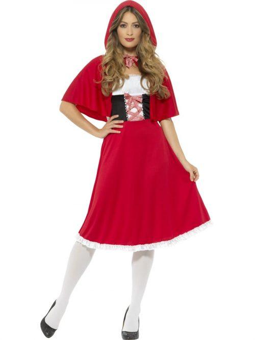 Red Riding Hood Longer Ladies Fancy Dress Costume
