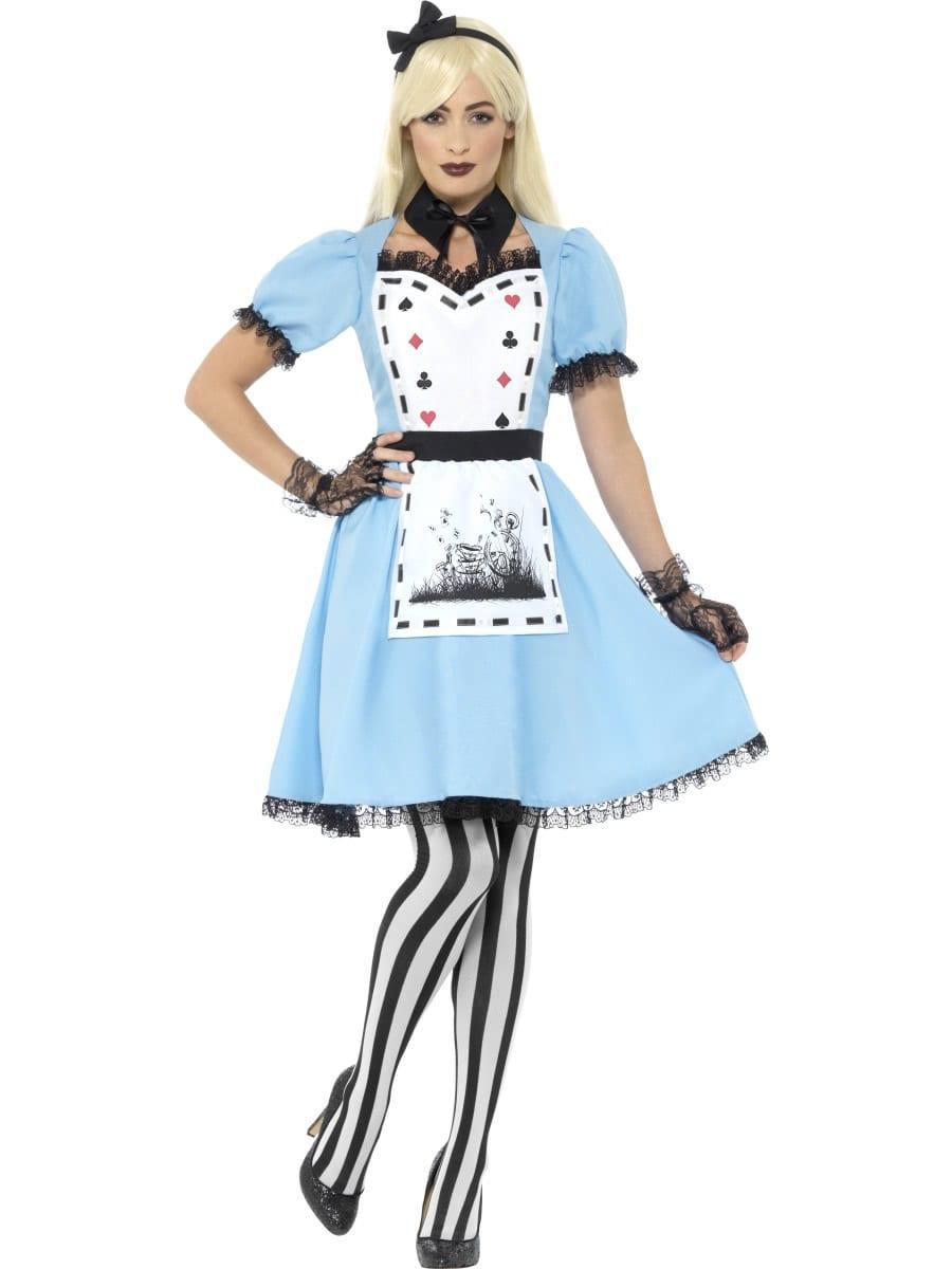 Dark Tea Party Ladies Fancy Dress Costume