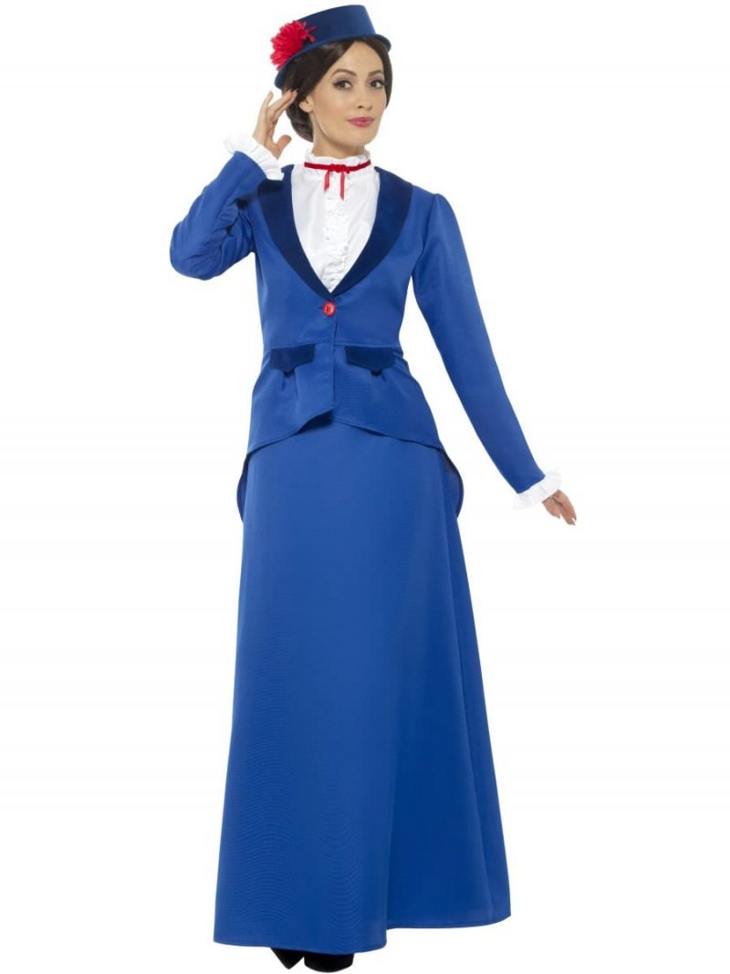 Victorian Nanny (Poppins) Ladies Fancy Dress Costume