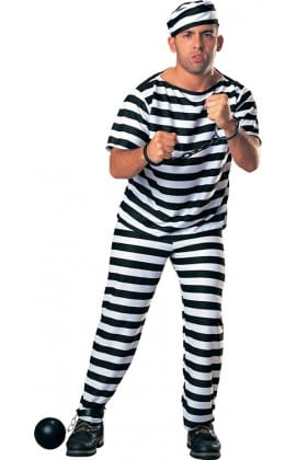 Prisoner Man (Convict) Men's Fancy Dress Costume