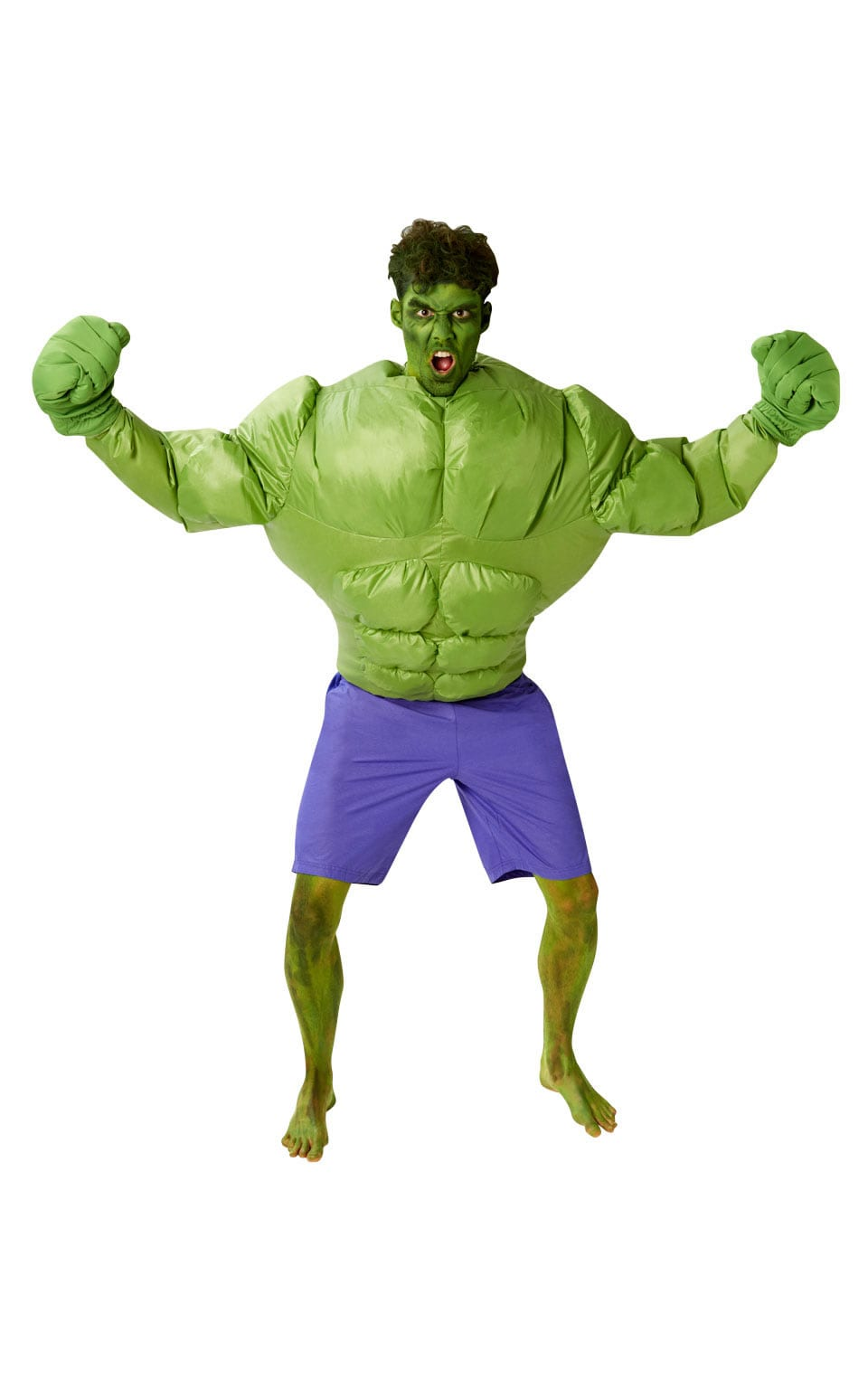 Marvel Universe Hulk Inflatable Men's Super Hero Fancy Dress Costume