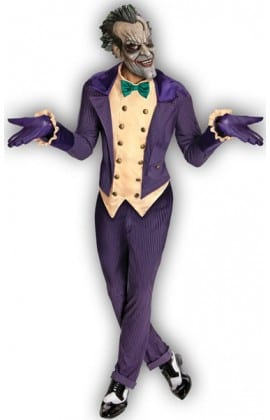 Batman Arkham City The Joker Men's Super Hero Costume