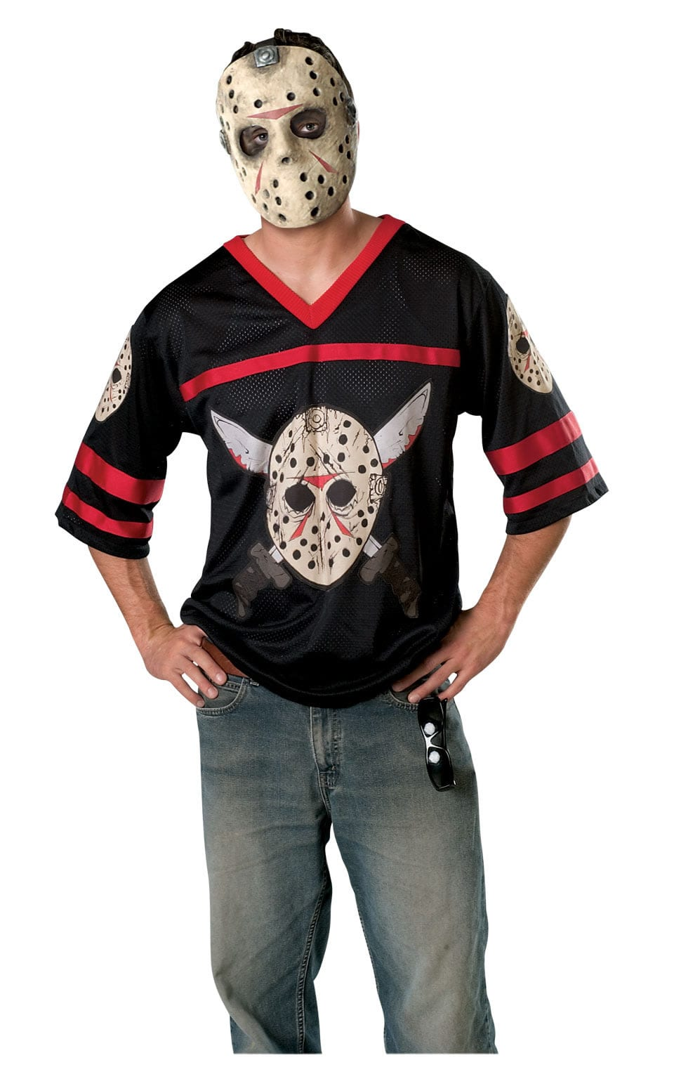 Friday the 13th Jason Hockey Jersey Mens Fancy Dress Costume