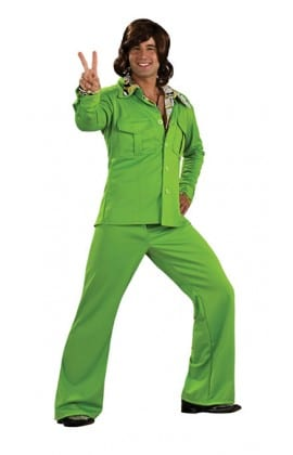 Leisure Suit Green Men's Fancy Dress Costume