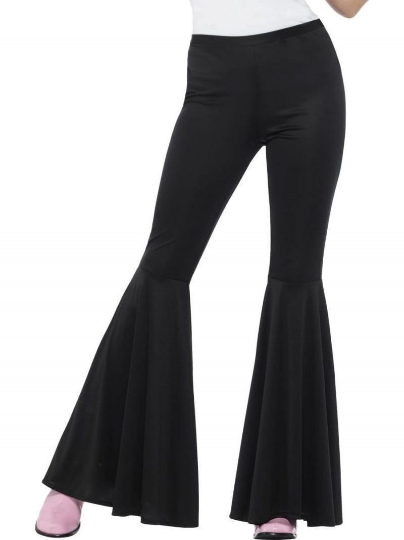 Black Flared Trousers Ladies Fancy Dress Costume
