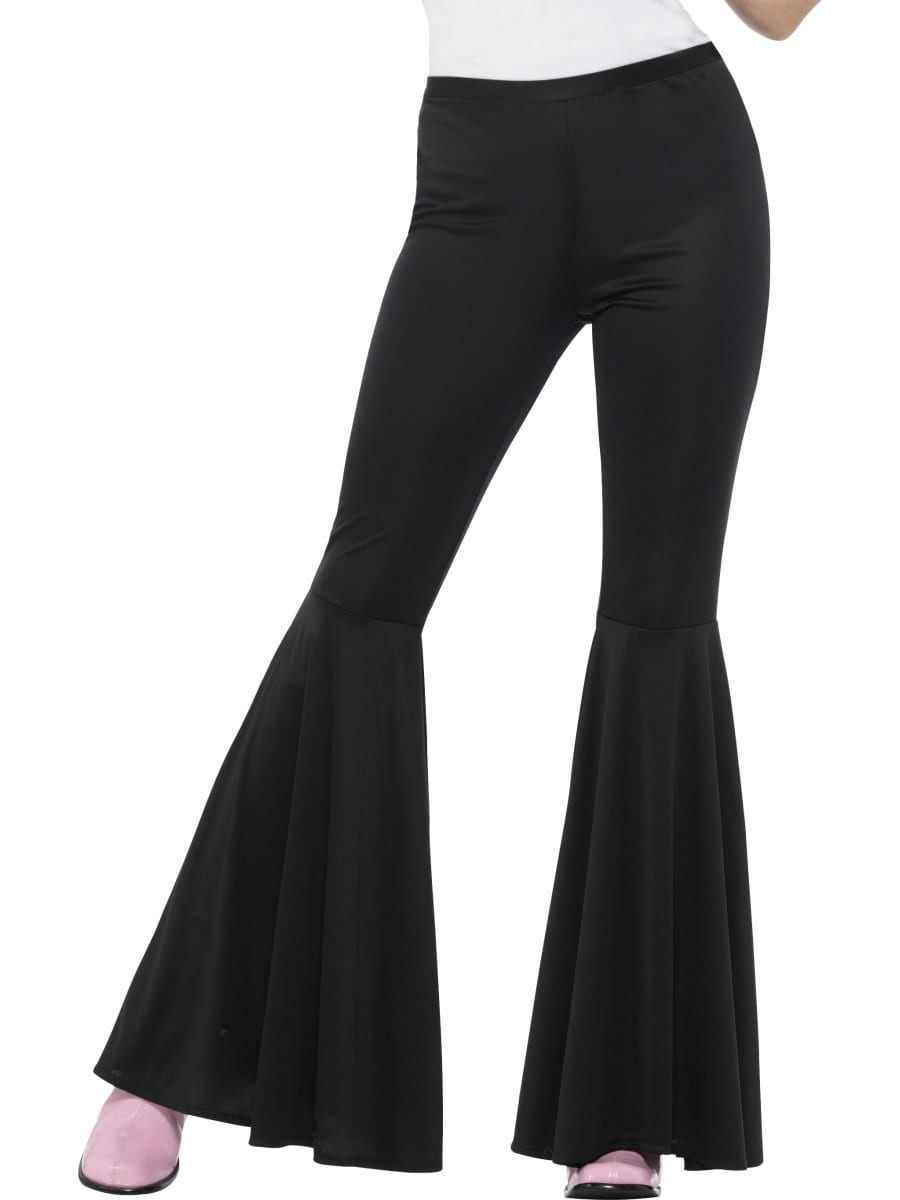 Black Flared Trousers Ladies Fancy Dress Costume