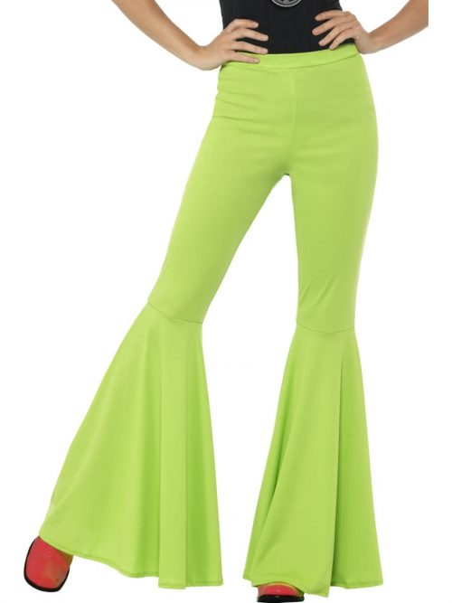 Green Flared Trousers Ladies Fancy Dress Costume