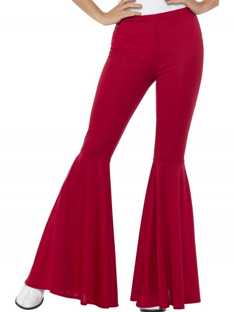 Red Flared Trousers Ladies Fancy Dress Costume