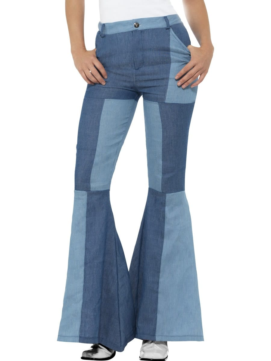 Deluxe Flared Trousers Ladies Fancy Dress Costume