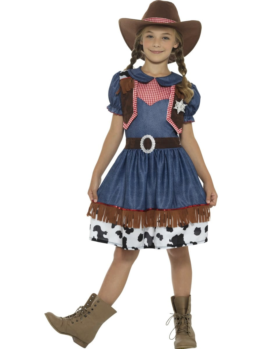 Texan Cowgirl Children's Fancy Dress Costume