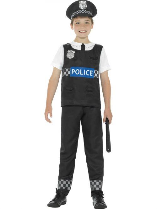 Cop Childrens Fancy Dress Costume