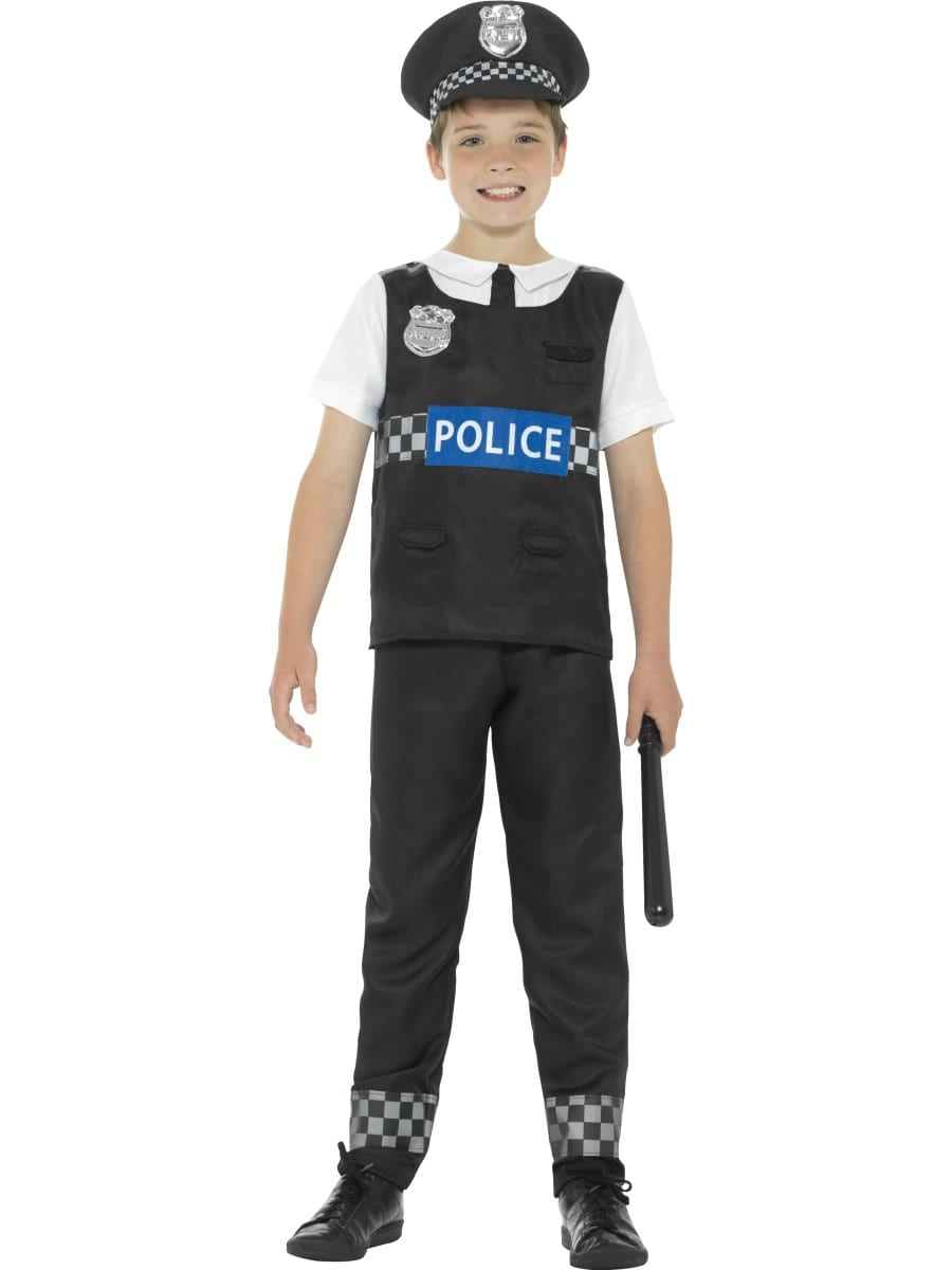 Cop Childrens Fancy Dress Costume