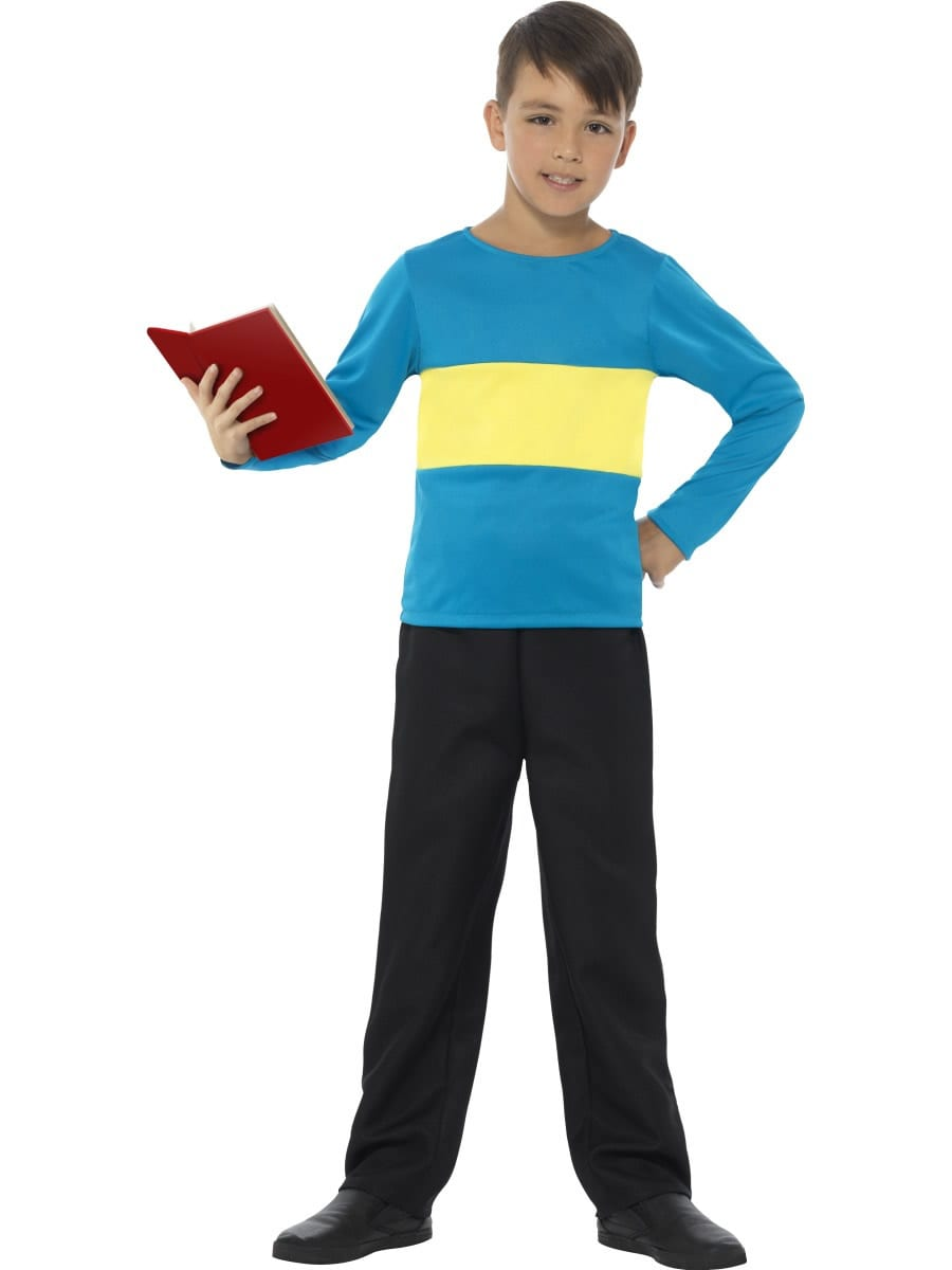 Blue with Yellow Stripe Jumper (Henry) Children's Fancy Dress Costume