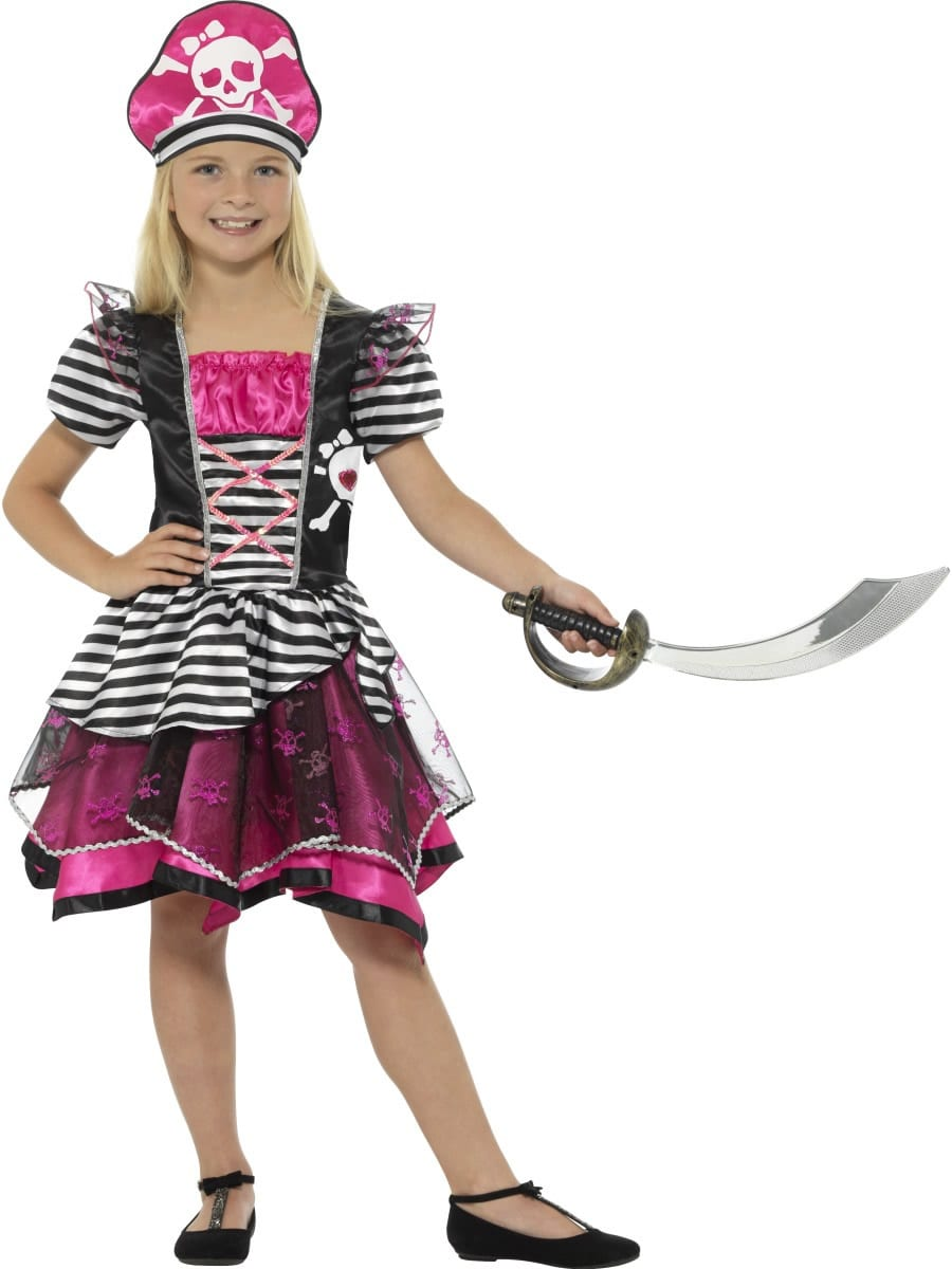 Perfect Pirate Girl Children's Fancy Dress Costume