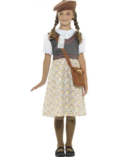 Evacuee School Girl Children's Fancy Dress Costume