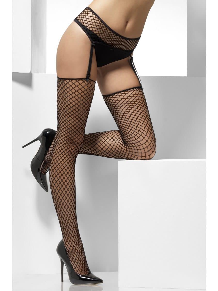 Lattice Net Hold-Up Stockings
