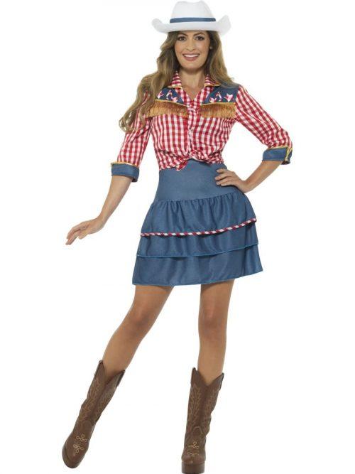 Rodeo Doll Ladies Fancy Dress Costume