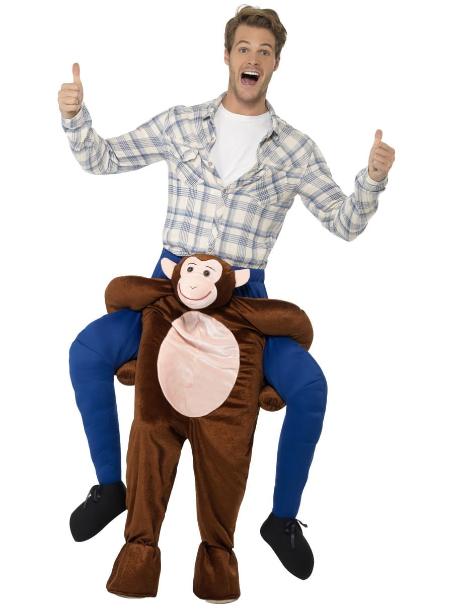 Piggyback Monkey Novelty Men's Fancy Dress Costume