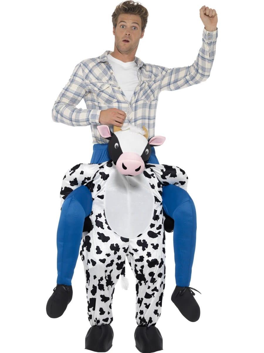 Piggyback Cow Novelty Men's Fancy Dress Costume