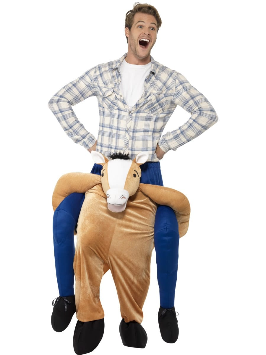 Piggyback Horse Novelty Men's Fancy Dress Costume