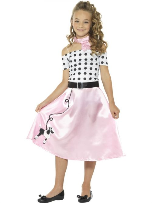 50's Poodle Girl Children's Fancy Dress Costume