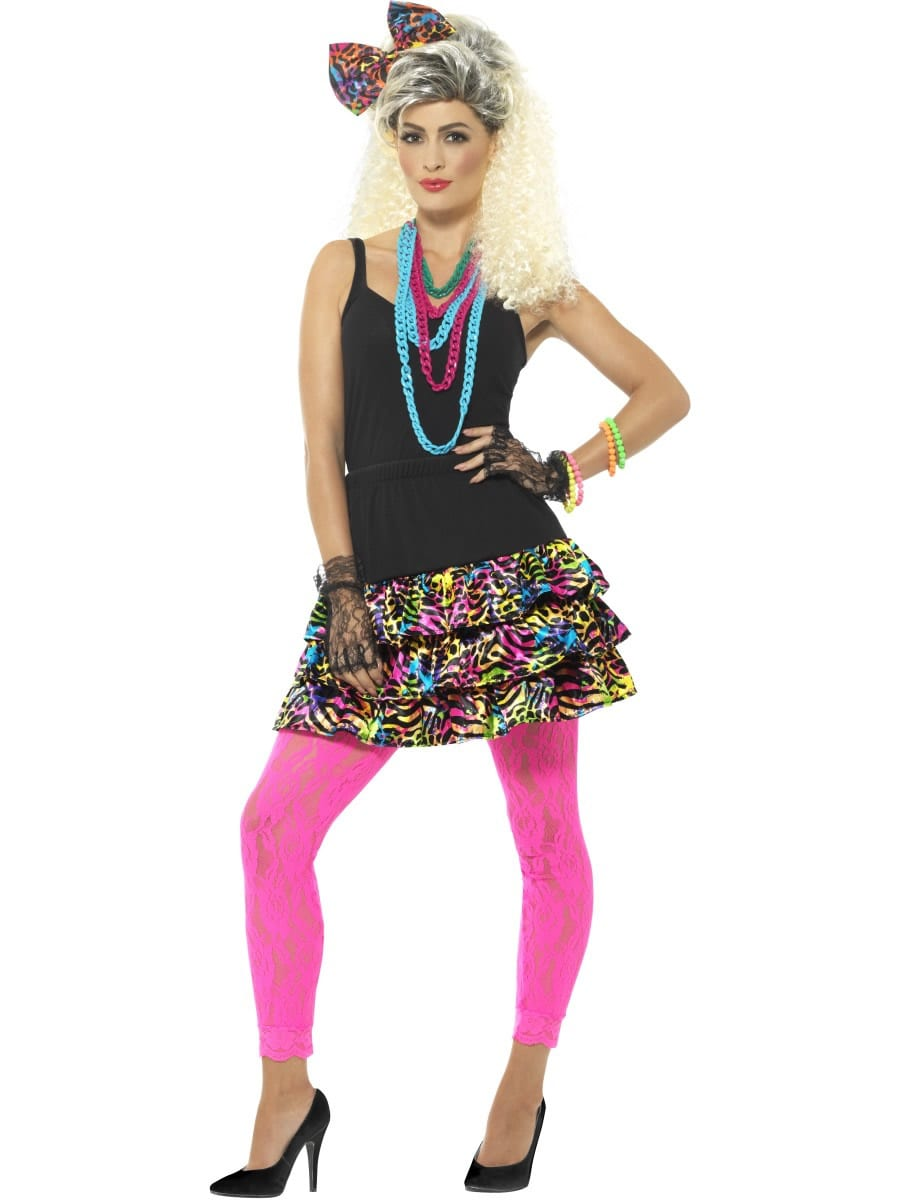 80's Party Girl Kit Ladies Fancy Dress Costume