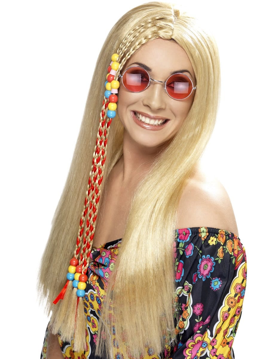Hippy Party Wig,Blonde