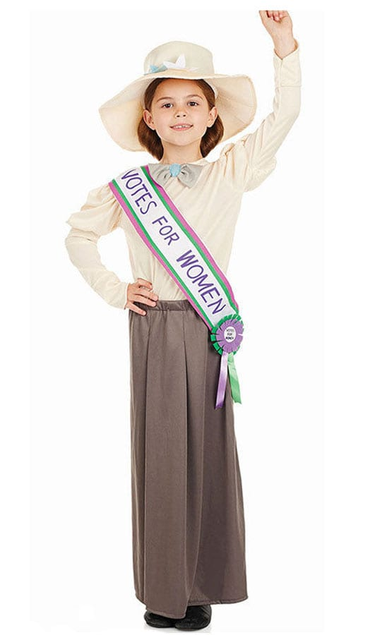 Suffragette Children's Fancy Dress Costume