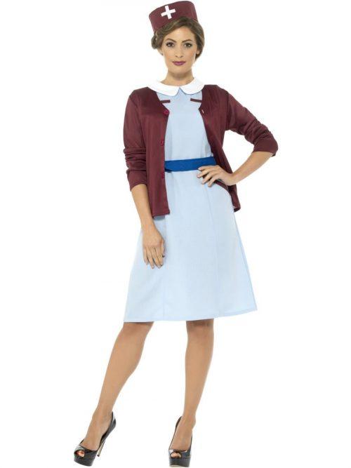 Vintage Nurse Ladies Fancy Dress Costume