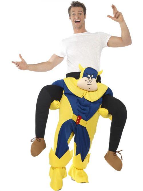 Bananaman Piggy Back Men's Novelty Fancy Dress Costume