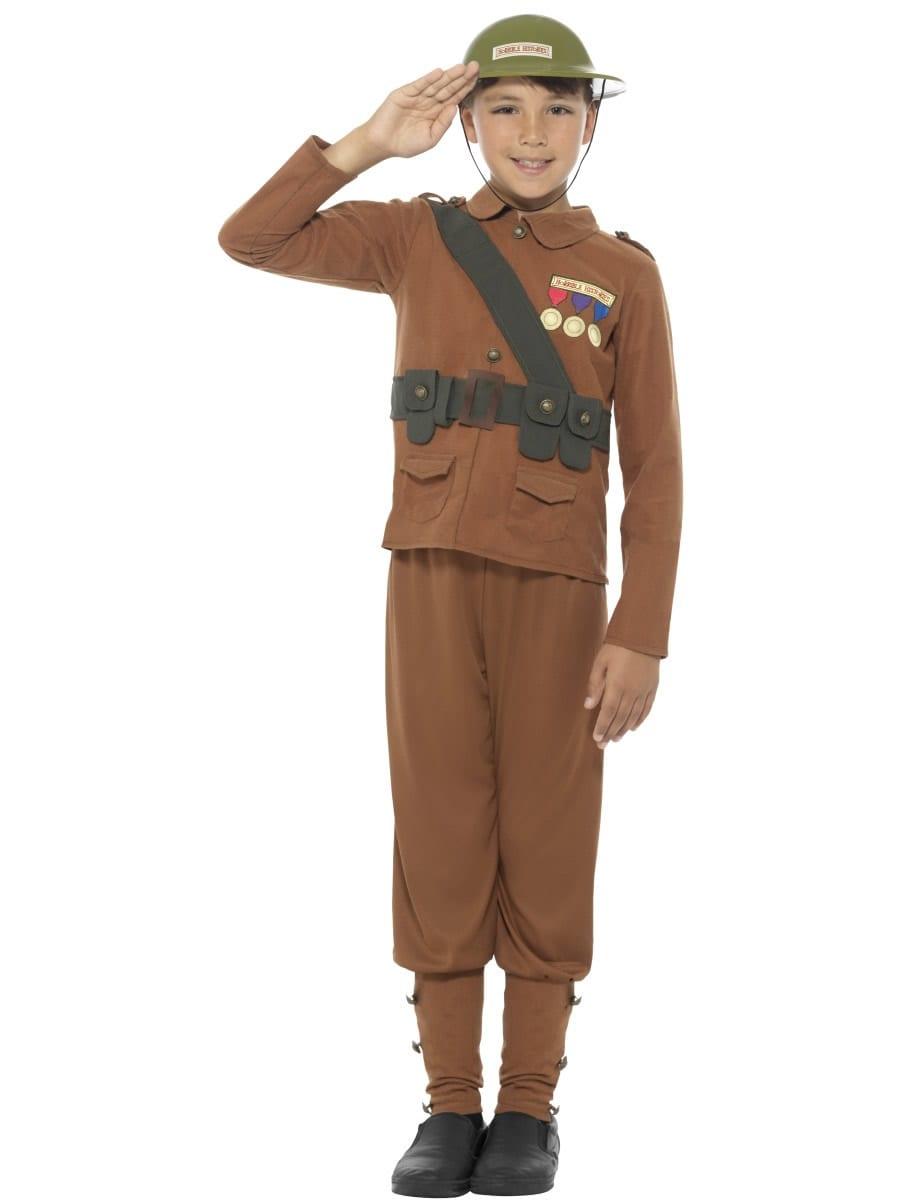 Horrible Histories Soldier Children's Fancy Dress Costume