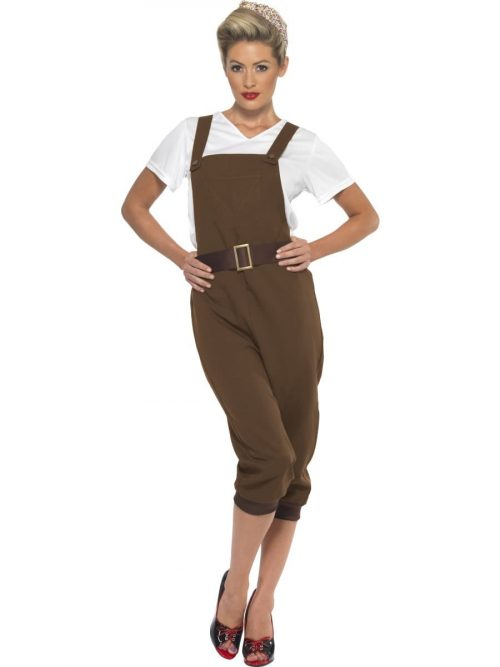 WW2 Land Girl Ladies Fancy Dress Costume