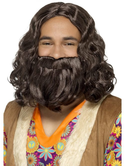 Hippie/Jesus Wig & Beard Set