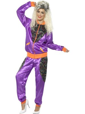 Retro Shell Suit Ladies Fancy Dress Costume