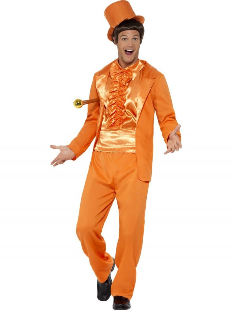 90's Stupid Tuxedo Orange (Dumb & Dumber) Men's Fancy Dress Costume