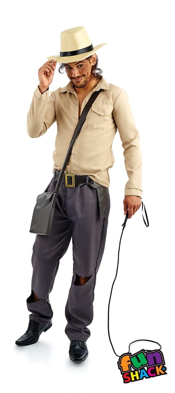 Adventurer (Indiana Jones) Men's Fancy Dress Costume