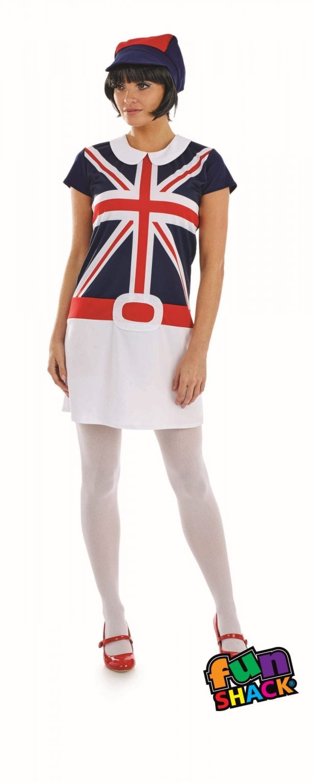 60's Mod Girl Ladies Fancy Dress Costume