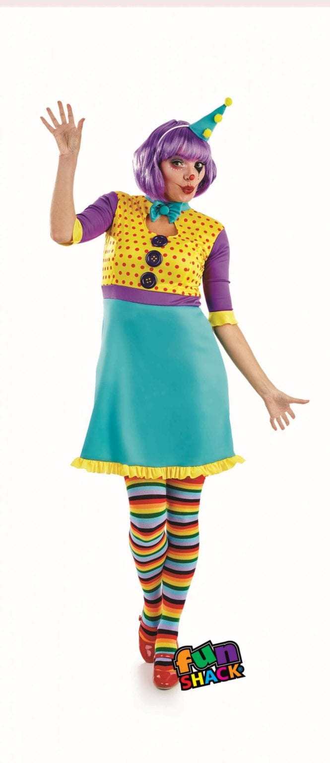 Clown Girl Ladies Fancy Dress Costume